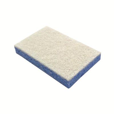 Schuurspons cellulose - 14 x 9 cm - BLAUW/WIT